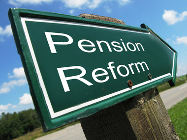 Pension Reform Directional Sign