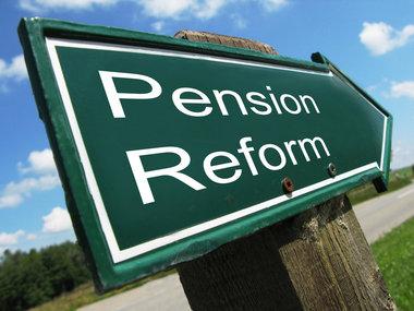 Pension Reform Directional Sign