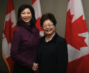 Susan and Alice Wong, Federal Minister of State for Seniors
