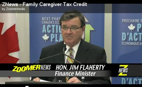 family caregiver tax credit Minister Flaherty Zoomer News