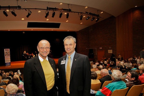 Moses Znaimer and Etobicoke Chair Gary Hepworth