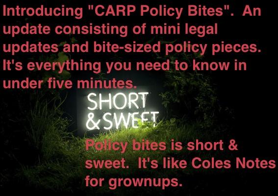 CARP Policy Bites