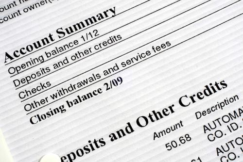 paper bill stock image