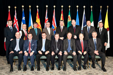 Minister of Finance Jim Flaherty met with his provincial and territorial counterparts in Victoria, British Columbia, in December of last year.