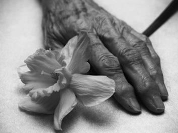hand flower