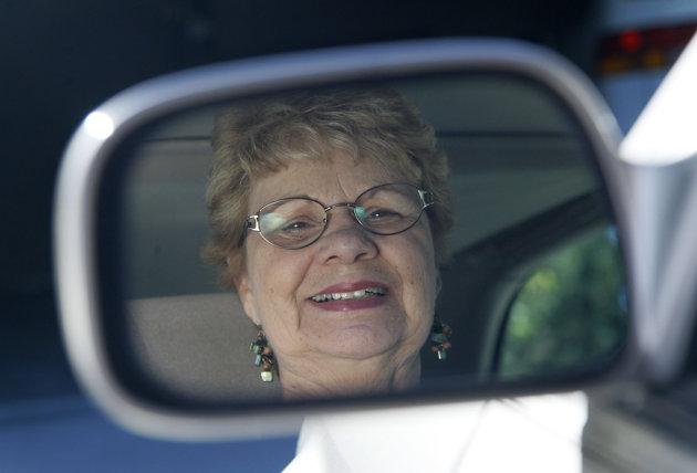 woman senior driver