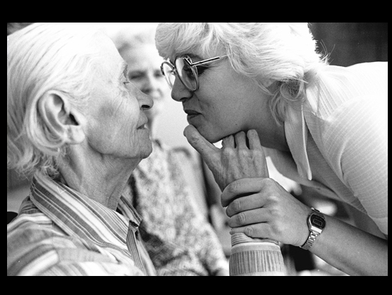 caregiver woman with older woman