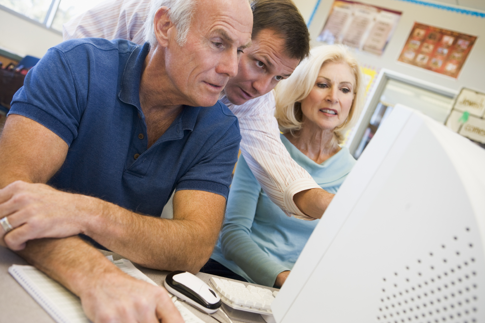 seniors learning computer skills older workers older worker