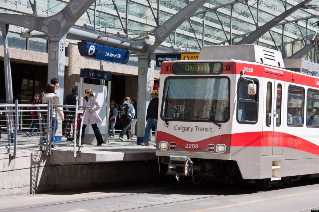 BBMWB3 The Light Rail Transit system in Calgary Alberta Canada. Image shot 2009. Exact date unknown.