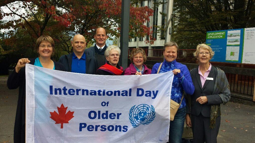 Vancouver Chapter Raises Flag for National Seniors Day.