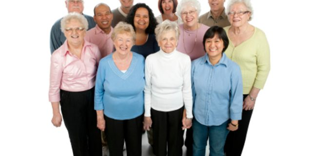 A diverse group of adults and seniors 45-95 years old.