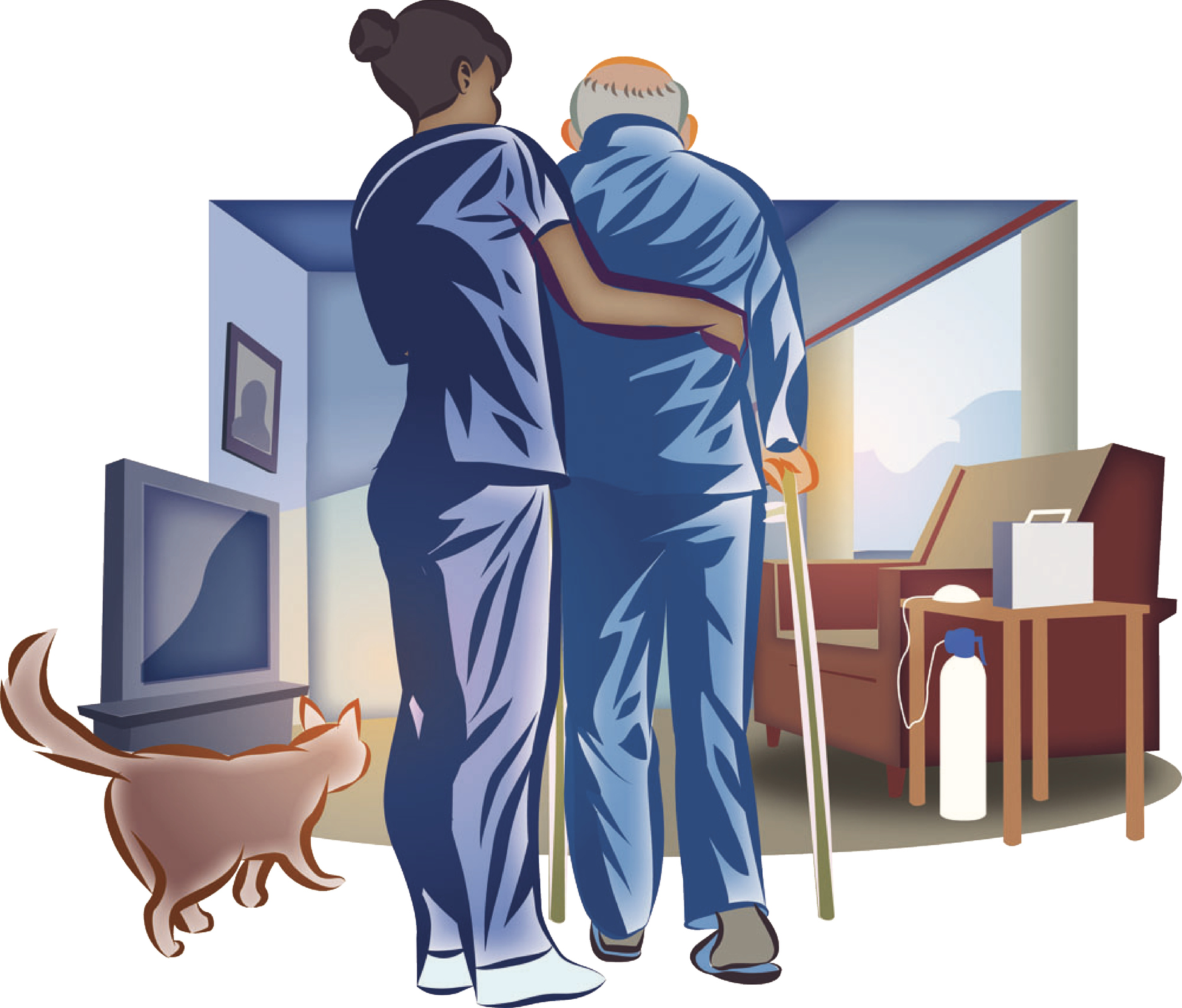 Home Nurse Senior Man