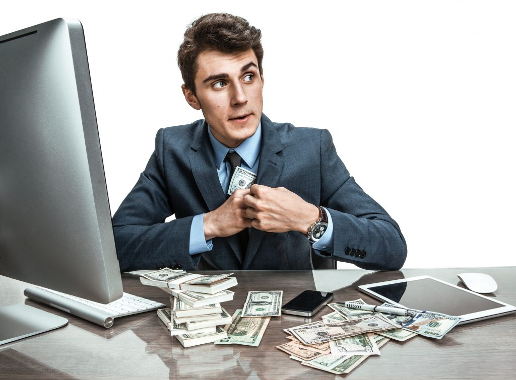 Advisor stealing money