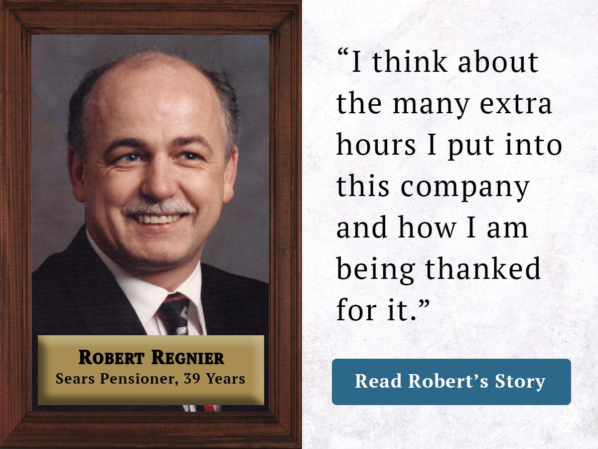 Robert Regnier Pensioner Story