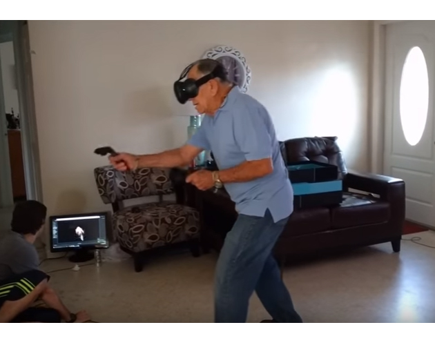 This grandpa proves you're never too old for video games.