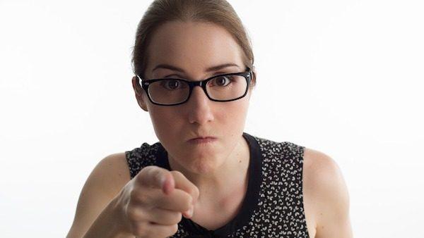 Annoyed Woman Study