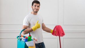 Housecleaning Man