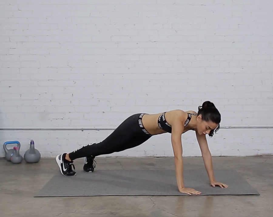 Sweat the City: Plank Push Ups