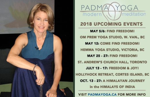 Padma Yoga - 2018 Upcoming Events