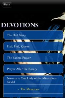 iMary Mobile App Devotions Page