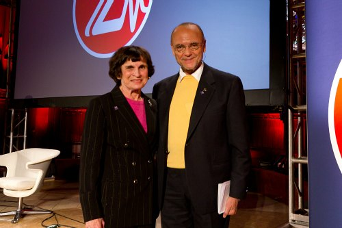 ZoomerLife Conference 2011 - Presenter Dr. Arline Bronzaft, Professor Emerita of Lehman College, City University of New York and ZoomerMedia Limited Founder Moses Znaimer