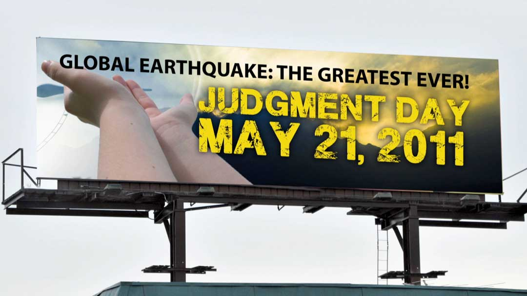 IP: Rapture Ready - Rendering of end-times billboards purchased by Harold Camping followers, including Robert Fitzpatrick of Staten Island, New York