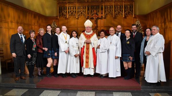 Christmas Mass 2017 - Cardinal Collins and Group