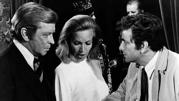 "Richard Basehart, Honor Blackman and Peter Falk star in ""Columbo: Dagger of the Mind"""
