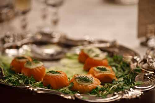 Downton Abbey S2: Salmon hors d'oeuvres