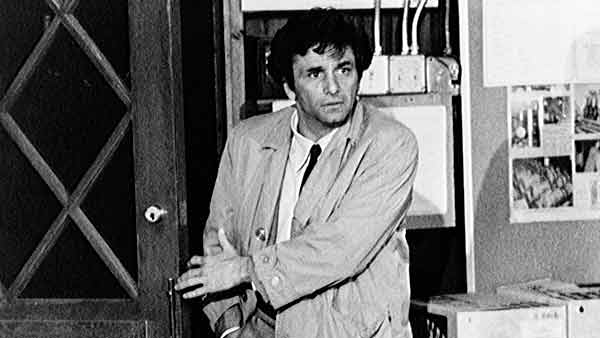 "Peter Falk stars as Lt. Columbo in ""Columbo: Any Old Port in a Storm"""