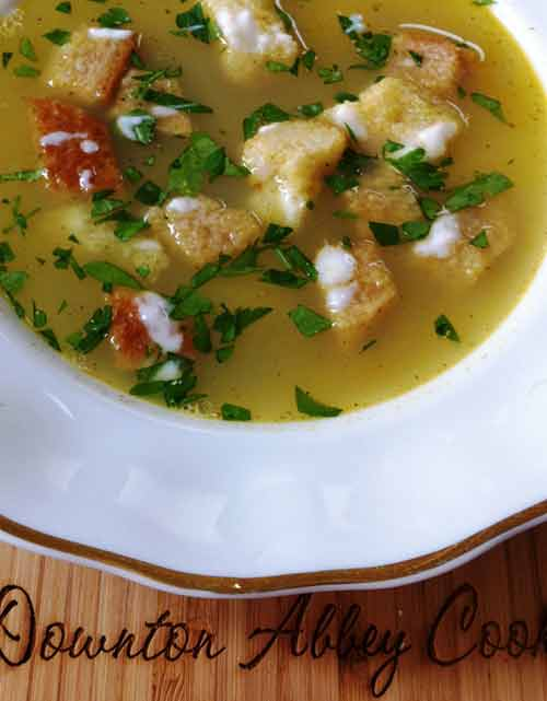 The Weekly Downton Dish: Cream of Barley Soup by Pamela Foster, DowntonAbbeyCooks.com