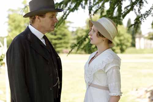 Downton Abbey S1E7: Sir Anthony Strallan rejects Lady Edith at the garden party