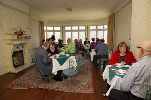 Spadina Museum: Contest winners have tea before their exclusive preview tour Photo: Courtesy City of Toronto