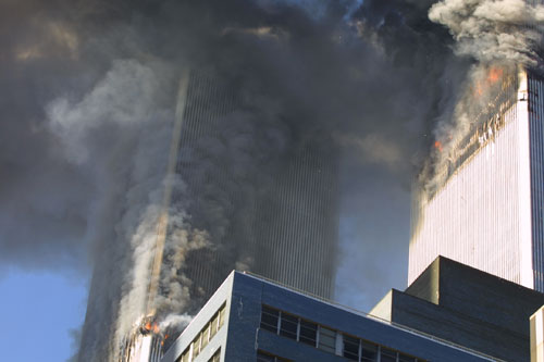 Jew Bashing - USA: World Trade Center collapsing during 9-11