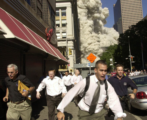 Jew Bashing - USA: New Yorkers fleeing the collapsing World Trade Center during 9-11.