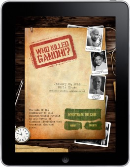 Who Killed Gandhi iPad App Home Screen