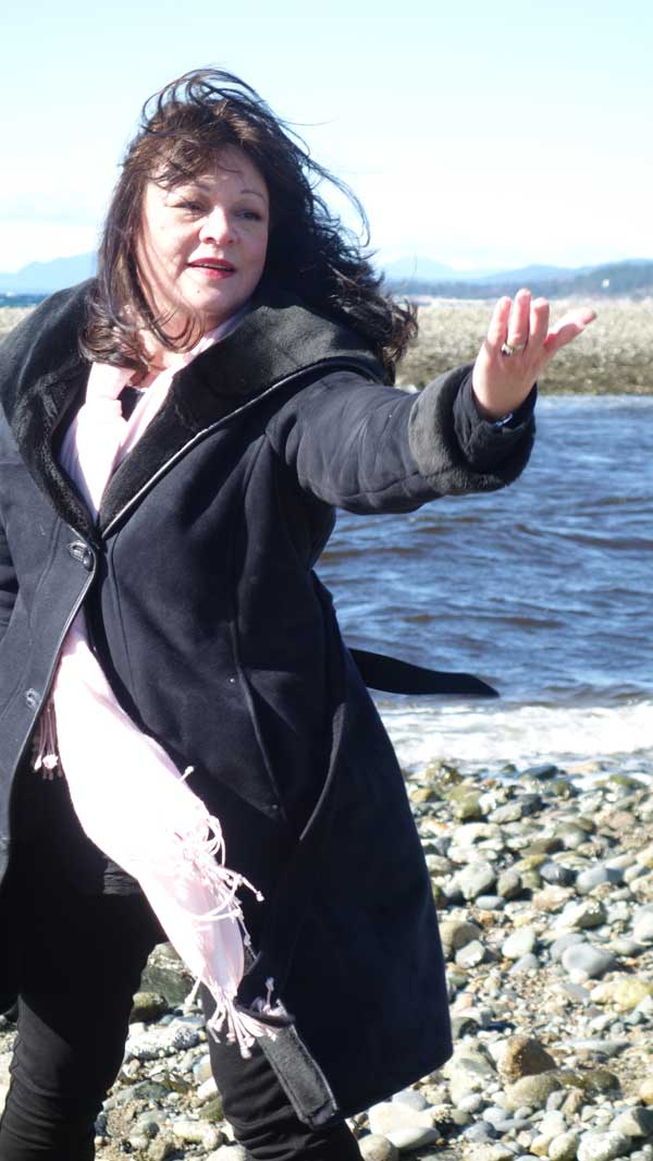 Ecstatic: Leonora Gregory-Collura, advocate for the rights of autistic people, dances by the ocean