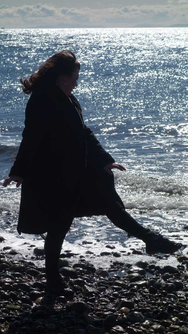 Ecstatic: Leonora Gregory-Collura dances by the ocean