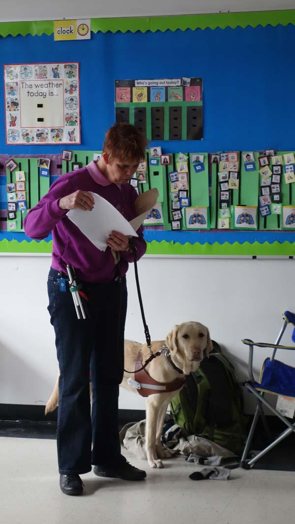 Ecstatic: Marilyn Rushton a blind teacher