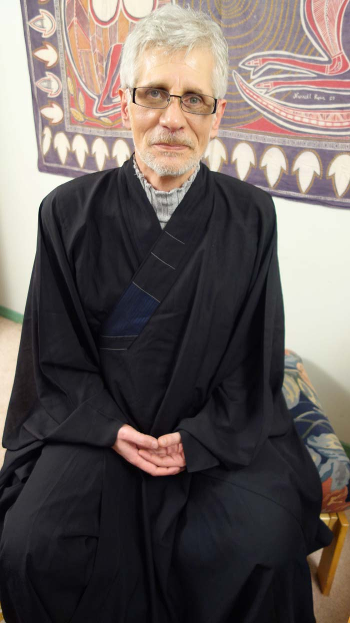 Ecstatic: Shahram Vahdany, a Buddhist journalist, meditates