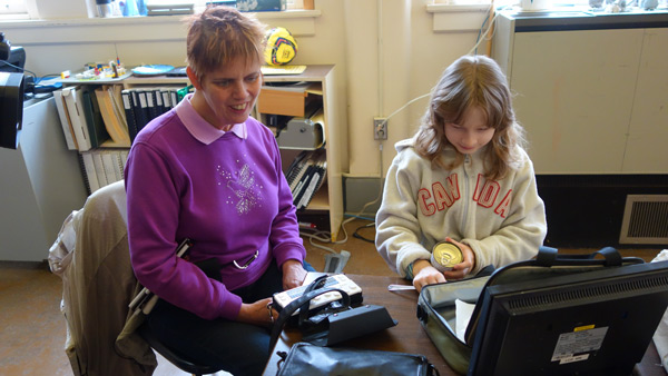 Ecstatic: Marilyn Rushton, a blind teacher and a student, Melody