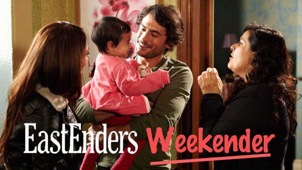 EastEnders Weekender: (Oct. 28 - Nov. 1, 2013) Baby Yasmin, Amira Masood (PREEYA KALIDAS), Syed Masood (MARC ELLIOTT), Zainab Masood (NINA WADIA) Photo: Adam Pensotti © BBC 2011