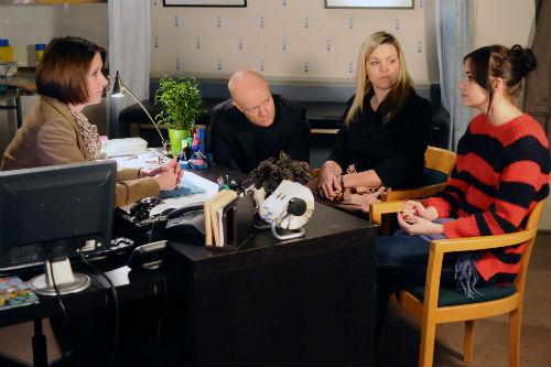 EastEnders Weekender Jan. 17: Dr Hugh (JESSICA TOMCHAK), Max Branning (JAKE WOOD), Tanya Jessop (JO JOYNER), Lauren Branning (JACQUELINE JOSSA)