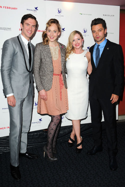 Dan Stevens, Hattie Morahan, Mia Austen and Dominic Cooper Photo: © PA Wire/PA Photos/KEYSTONE Press