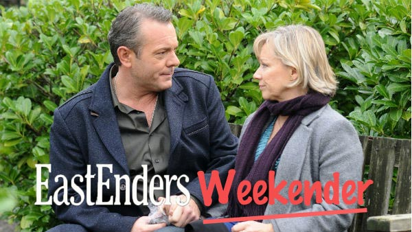 EastEnders Weekender (Jan. 6 - 10, 2014): David Wicks (MICHAEL FRENCH), Carol Jackson (LINDSAY COULSON) Photo: Adam Pensotti © BBC 2011