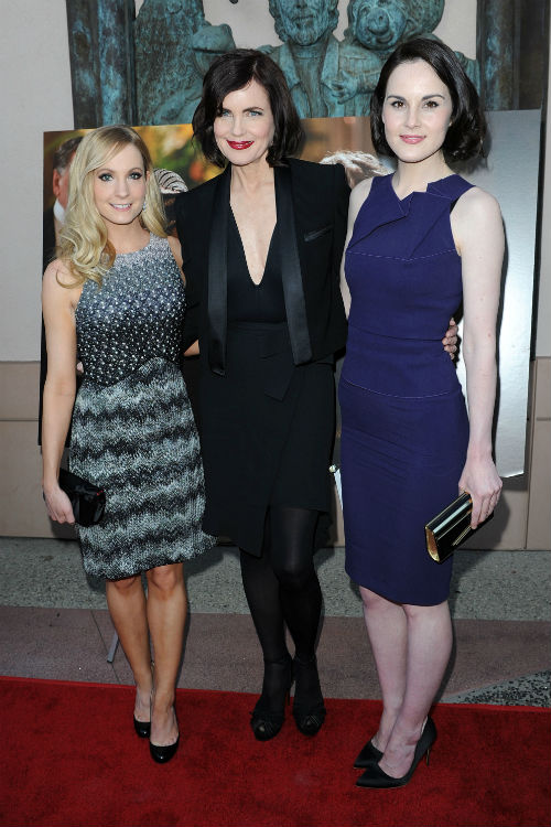Mcgovern was joined by co stars joanne froggatt and michelle dockery