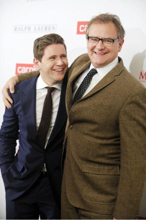 Allen Leech and Hugh Bonneville at <em>Downton Abbey</em> Season 4 screecing: ZUMAPRESS.com/Keystone Press