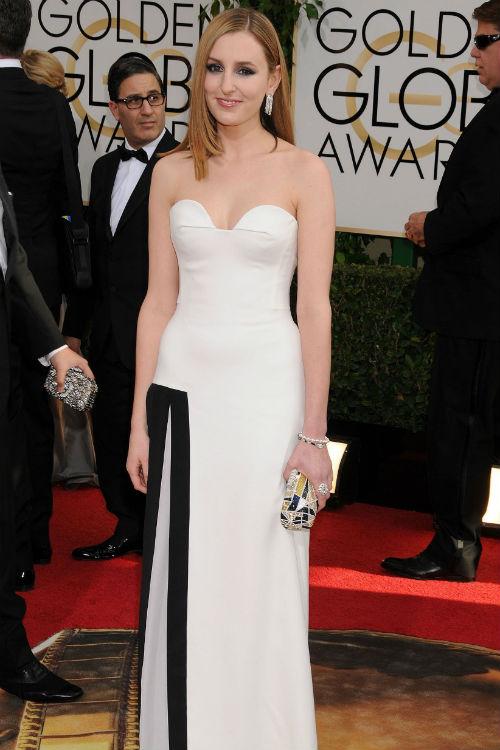 Laura Carmichael at the 2014 Golden Globe Awards: Photo © Paul Fenton ZUMAPRESS.com/Keystone Press