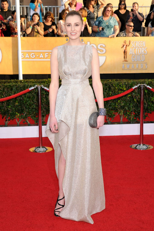 Laura Carmichael at the 20th Annual SAG Awards: Photo by AFF/EMPICS Entertainment/KEYSTONE Press © Copyright 2014 by EMPICS Entertainment