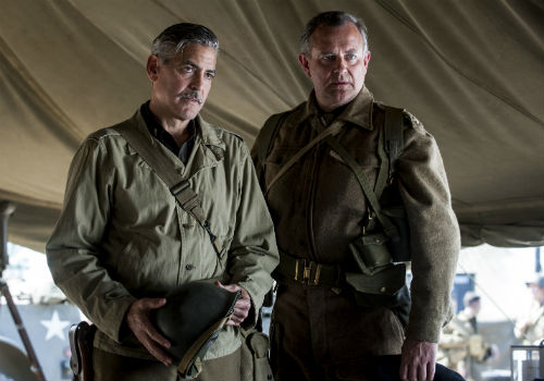 George Clooney and Hugh Bonneville in The Monuments Men © 2014 by Unimedia/Sony Pictures/KEYSTONE Press